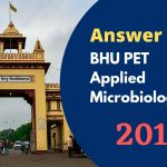 BHU PET Answer Key 2011