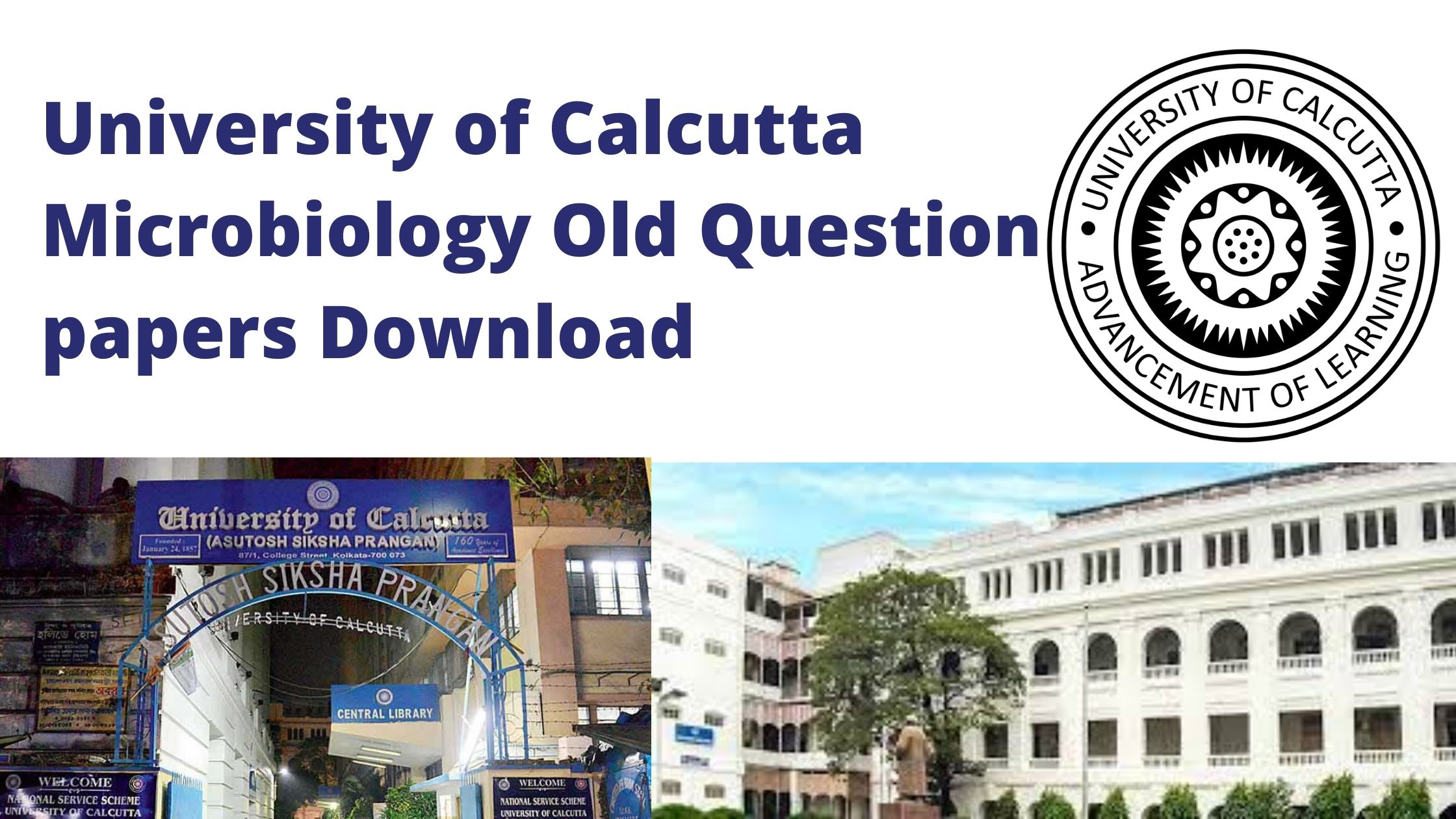 University of Calcutta MSc Microbiology Question Papers of 2020 Download